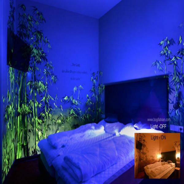 Vernici Fluorescenti Per Pareti.Vernice Liquida Additivo Acrilico Luminescente Si Illumina Al Buio Per