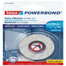 55732 Nastro biadesivo marca TESA in blister per montaggio di specchi 1,5MT x 19mm