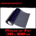 Film darkening dark tinted headlights 30x100cm light rear fog lamps front black