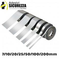 Banda cinta auto espejo cromo plata adhesivo decoración 25/50 mm x 2MT