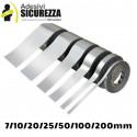 Vinilo banda de cinta auta-adhesivo cromo espejo plata decoración 25/50/200mm