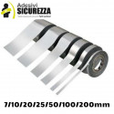 Vinyl self adhesive tape stripe chrome mirror silver decoration 25/50/200 mm