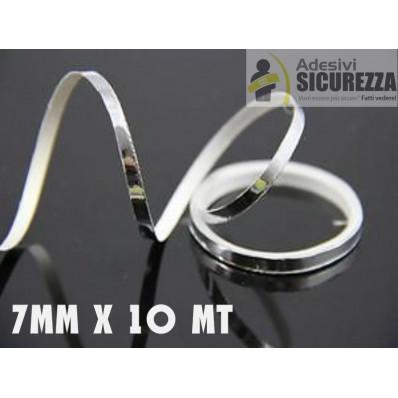 Streifen Klebeband Auto Spiegel selbstklebend silber Chrom Dekoration 25/50 mm x 2MT