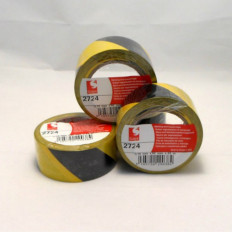 Scapa tape 2724 floors high areas reporting step 50 mm X 33MT red/white-yellow/black