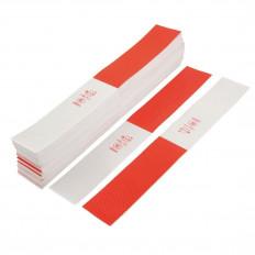 Faixas autocolantes refletivas branca e vermelha realizadas com