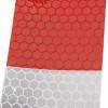 10 strisce adesive rifrangenti protettive Diamond grade auto camion 30cm X 4,5cm bianco/rossi