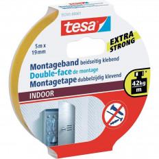 55741 Nastro biadesivo marca TESA in blister forte per interni 5MT x 19mm