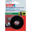 Doppelseitiges Klebeband TESA 55750 starke Blase schwarzen Interieur 1,5m x 19mm