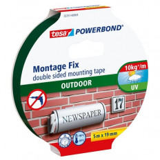 TESA 55751 blister Black Double-side adhesive Tape for outdoors
