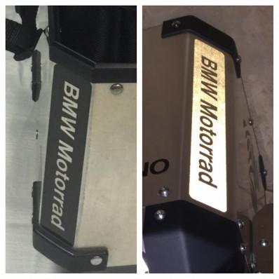 2 Rifrangenti adesivi bauletto BMW MOTORRAD colore nero