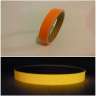 Phosphorescent and Fluorescent orange adhesive tape glows in