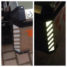 2 stcikers se Pegatinas refletoras de luz de bolso de BMW 1200 GS