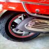 Círculos de scooter arranque tiras adhesivas reflectante 3 m ™ banda reflectante marca rueda 6 x 7MT
