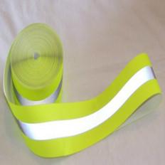 Fita reflexiva reflexiva combinada costura amarelo/cinza 30mm x 2MT