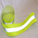 Reflective tape sewing refractive combined yellow/grey 30 mm x 2 m