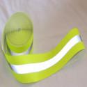 Reflektierendes Band reflektierende kombinierten Nähen gelb/grau 30mm x 2MT