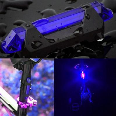 Luce di sicurezza con flash per bici colore blu ricaricabile via USB
