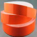 Pellicola adesiva classe 2 omologata retroriflettente Diamond Grade per la bordatura dei veicoli Arancio Fluo