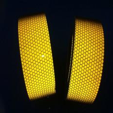 Nastro adesivo retroriflettente rifrangente segnalazione giallo 50mm classe 2