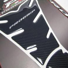 Paraserbatoio Aufkleber für Motorräder Universal-Carbon-Look