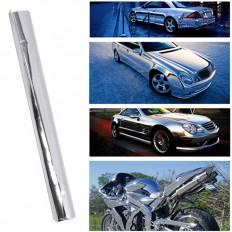 Pellicola CROMATA adesivo cromato argento chrome car wrapping auto moto cromatura no bolle