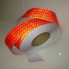 red reflective warning adhesive tape(class 2) - 50mm