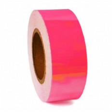 3 m™ Розовая Лента сигнальная флуоресцентные самоклеющаяся пленка от 25/50 мм