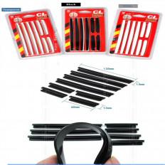 Salvaporta universal adhesivo negro goma cuerpo coche puerta borde Protector 3MT