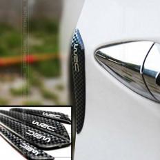 Protezione portiera auto colore nero carbonio con scritta WRC