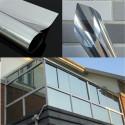 cristal de plata espejo de 76 cm Windows Movie película de aislamiento de las etiquetas engomadas adhesivas