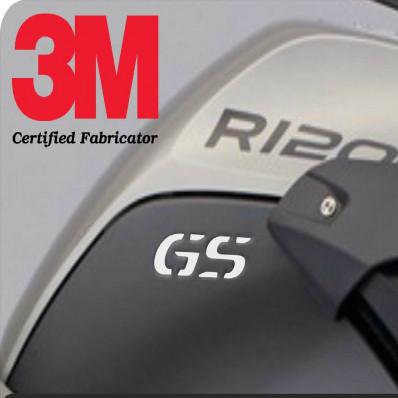 "4 Stickers adesivi rifrangenti scritta ""GS"" PARAMANI/PARAFANGHI BMW 1200GS"