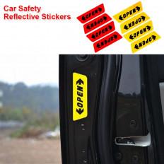 4 adesivos de segurança reflexivo escritos a porta do carro aberta