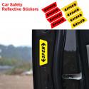 4 autocollants de sécurité réfléchissants écrits portière ouverte