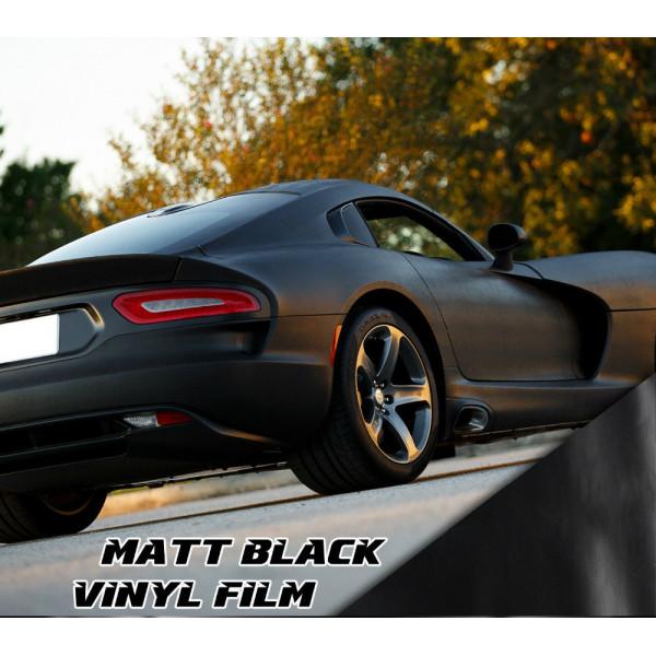 matt schwarz klebefolie f r auto verpackung cars bikes. Black Bedroom Furniture Sets. Home Design Ideas