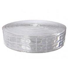 Nastro in PVC riflettente da cucire sui vestiti Silver 50mm