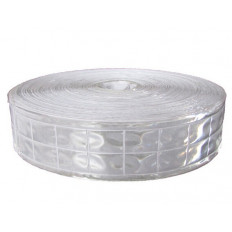 High visibility Silver reflective fabric sew on tape - 25/50 mm