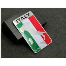 3D aluminium nation Italy sticker flag