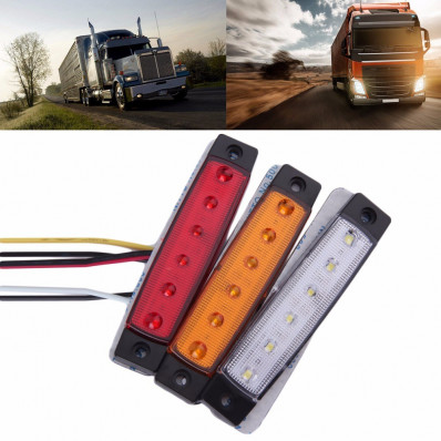 1 luce laterale 12V 6 SMD LED auto camion