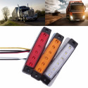 Luz lateral 12V com 6 LED SMD para carro e caminhão