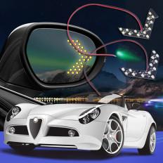 2 luce frecce per specchietti 14 SMD LED indicatore laterale