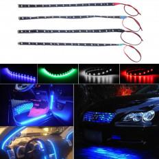 15 luzes de LED 30cm impermeável tira de luz em 4 cores