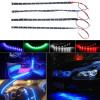 Striscia adesiva impermeabile luci 15 LED 30 cm in 4 colori