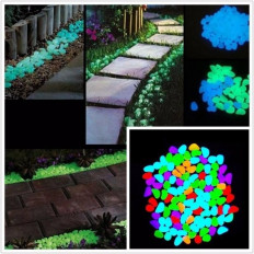 Multicolour phosphorescent resin pebbles that glow in the dark