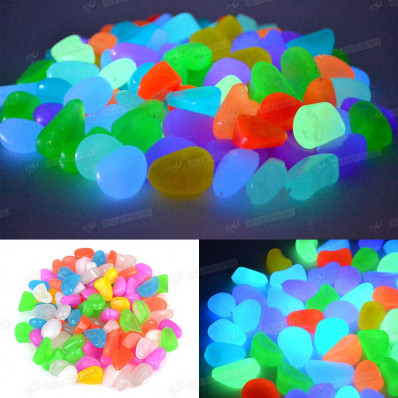 Bright Stones drops of resin photo-luminescent glow in the dark white color for 50/100 furniture pieces