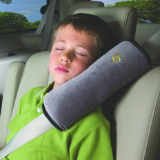 Cuscino per cintura di sicurezza con supporto cervicale per