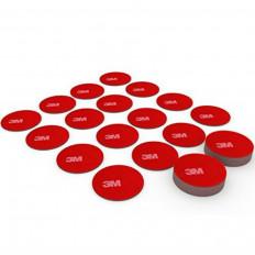 100 pegatinas circulares doble cara 3M™ 5925 VHB de alto