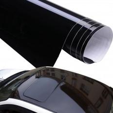Lámina en vinilo negro lustroso espejado brillosa de alta
