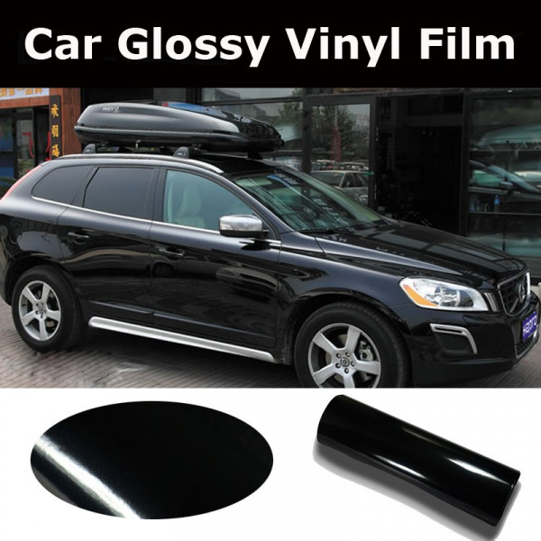 film autocollant en vinyle noir brillant pour la personnalisation automobile. Black Bedroom Furniture Sets. Home Design Ideas