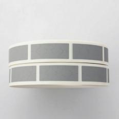 Cartes à gratter argentées en PVC adhésif en tailles