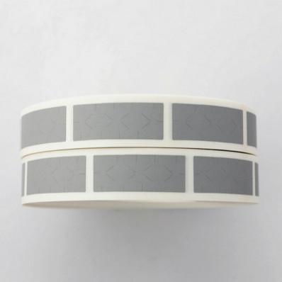 100 pezzi argento scratch off/gratta e vinci su pvc adesivo